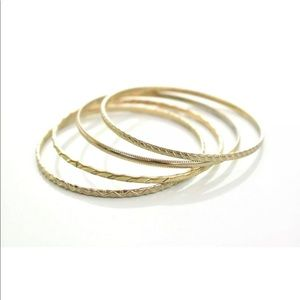 Nordstrom Gold Bangle Style Set Of 4 Bracelets